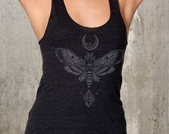 Women's Moth Racerback Tank // made in the USA by Black Lantern