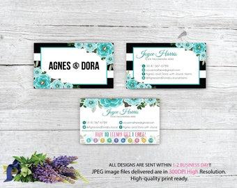 Agnes and Dora Business Card, Custom Agnes and Dora Punch Card, Custom Business Card, Printable Business Card AG87