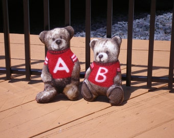 Alvin or Benjamin Bear - Dog squeaker toy