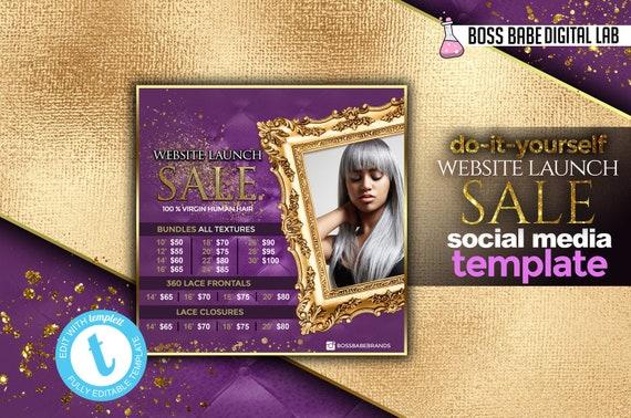 Website launch sale flyer hair bundles flyer editable flyer solutioingenieria Image collections