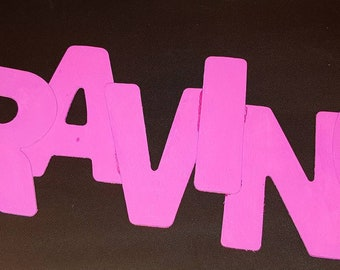 CRAVING Wooden letters in Pink