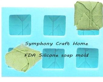 Folded Leaf silicone mold,Leaf mold, 6 cavity fold leaf mold, natural mold, silicone soap mold, resin mold, mp soap mold, soap mold.