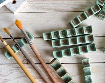 Ceramic Brush Pen Rest Paintbrush Calligraphy Holder Watercolor Brush Painting Tools Oil Painter Gifts for Artists Art Teacher