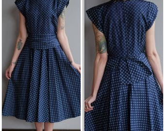 1950s Dress // Sweet Sue Polka Dot Dress // vintage 50s dress