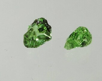 3.15 ct mint green tsavorite garnet rough crystal specimen merelani tanzania #38