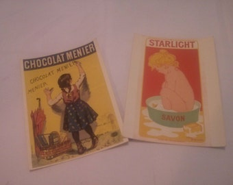 Vintage  of late 1890's  Posters Ads Reproduction Postcards