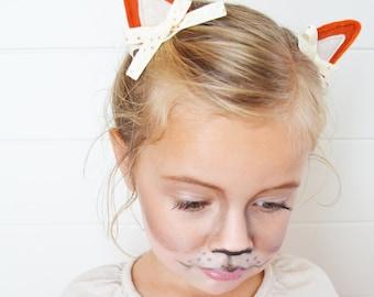 Fox Costume Fox Ears Hair Clips for Fox Halloween Costumes Dress Up