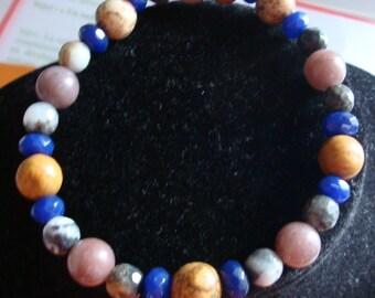 Multicolor bracelet enhance blue