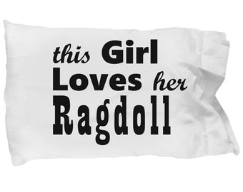 Ragdoll - Pillow Case, Crazy Cat Lady Gift, Cat Lover Gifts For Women, Cat Gifts For Women, Cat Pillow Case, Gift For Her