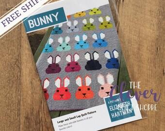 Quilt Pattern, Bunny, Elizabeth Hartman, Rabbit, Solid Quilt, Fat Quarter, Pattern, Woodland, , Fat Eighth, Modern, Modern