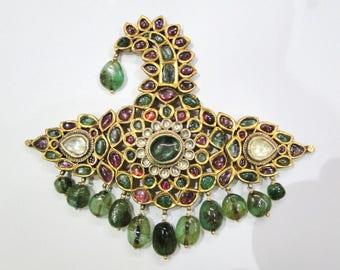 Rare! Vintage antique Collectible 20k Gold jewelry 'Sarpech' turban ornament