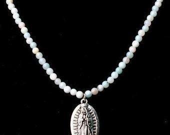 Virgen De Guadalupe unique necklace,Virgin Mary, Pray,Catholic Pendant
