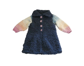 Knitting Jacket For Girl : Baby knitted cable jersey pdf download knitting pattern