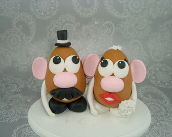 Custom Handmade Mr and Mrs Potato Head cake topper