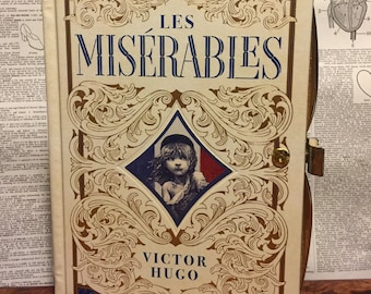 Book Clutch Les Miserables by Victor Hugo Literary Book Purse Made to Order