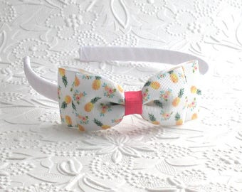 Pineapple Headband ~ Toddler Headband ~ Girls Headband ~ Hard Headband ~ Plastic Headband ~ Big Girl Headband