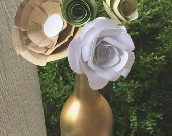 Paper Flowers and Vase