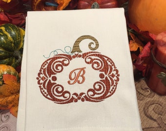 Thanksgiving Decor, Fall Kitchen Towels, Pumpkin Decor, Monogram, Fall  Decor, Fall Kitchen Decor, Holiday Decor, Kitchen Towel, Thanksgiving