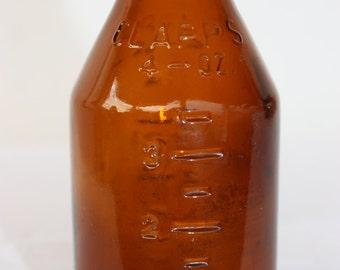 Clapps Brown Vintage Bottle -  Medicinal - Collectible Bottle