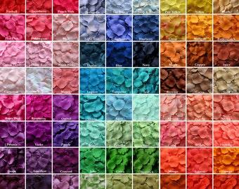 Silk Rose Petals - 100+ Colors Mix & Match Rose Petals, Artificial Petals, Fake Rose Petals, wedding aisle runner, flower girl toss, petals