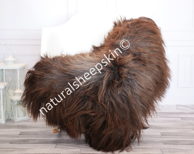 Icelandic Sheepskin | Real Sheepskin Rug | Brown Gray Sheepskin Rug | Fur Rug | Homedecor #febisl24