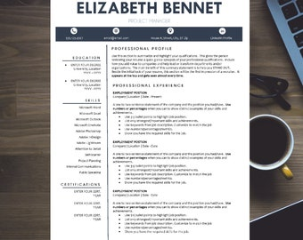 Modern Resume Template for Word | Creative, Modern Design | INSTANT DOWNLOAD Resume Template