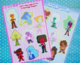 Steven Universe Sticker Sheets - Large