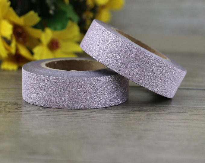 Rose Gold Glitter Washi - Rose Gold Glitter washi Tape -  Glitter Washi Tape - Paper Tape - Planner Washi Tape - Washi - Rose Gold Washi