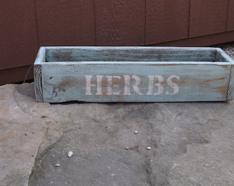 Herb planter/Handcrafted wood HERB box/window herb box/planter/table centerpiece/wedding