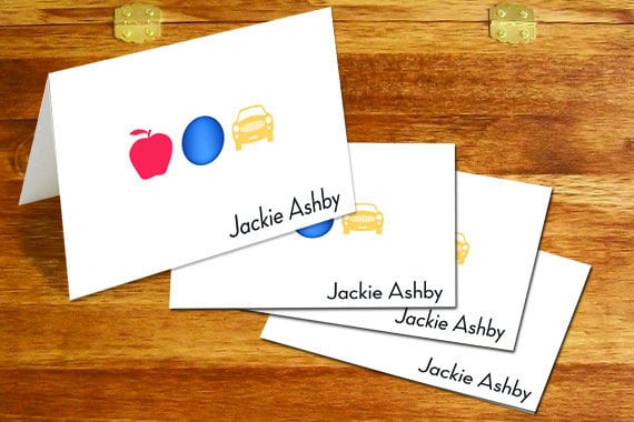 thank you cards, personalized thank you cards, ABC thank you cards, teacher appreciation gifts, teacher gifts, personalized notecards