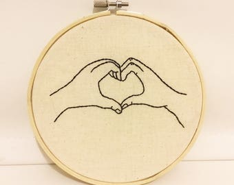 Love hand embroidery hoop