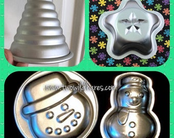 CHRISTMAS BOMB MOLDS, Christmas Tree, Snowman, Frosty Face, Lucky Star, Special Price on Set!
