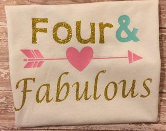Girls fourth birthday shirt