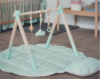 High Quality Wooden baby play gym - baby activity gym - stylish nursery baby wooden gym stand