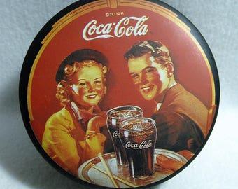 Drink Coca Cola Round Metal Tin Box