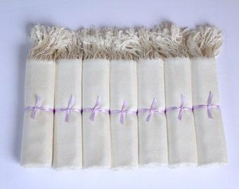Set of 7 Ivory Wedding Shawls, 7 Ivory Bridal Shawls, Ivory Shawls, Ivory Pashminas, Wedding Keepsakes, Ivory Pashminas, Feel-Like Cashmere