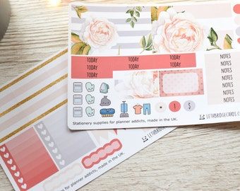 Blooms ECLP Weekly Kit; Erin Condren Vertical; Vinyl Planner Stickers; Mini Kit; Spring Kit; Flower Stickers; Functional Stickers; ECLP