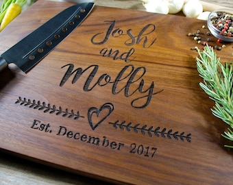 Personalized cutting board-56, Engraved cutting board,Personalized wedding gift,wedding gift for couples, housewarming gift, engagement gift