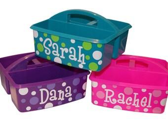 Personalized Kids Storage / Art Supply / Bath Caddy