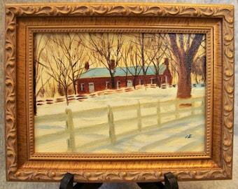 Visitor Center, Shaker Village, Pleasant Hill, KY, Original Miniature Oil Painting , Miniature, Framed or Unframed