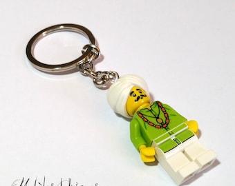 Lego snake charmer Figurine keychain