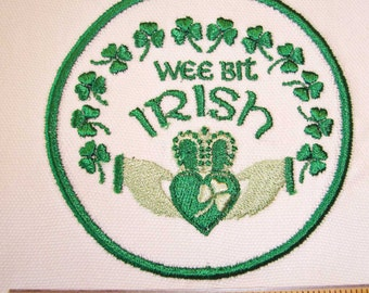 IRON-ON PATCH - Wee Bit Irish