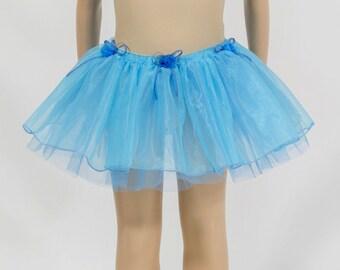Turquoise child tutu skirt