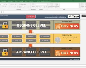 Workbook etsy excel formulas trainer medium practice workbook learn by doing fandeluxe Choice Image