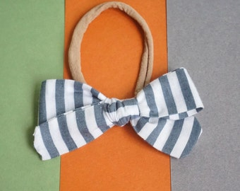 Striped Eleanor Eleanor Headband or Clip