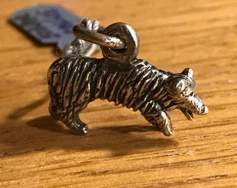 Sterling Silver Dog Charm - Border Collie