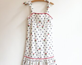 Vintage farm summer hippie bohemian beach dress XS/XXS