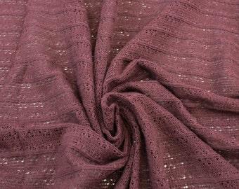 Burgundy Ribbon Stripe Butterfly Sweater Knit Fabric - 1 Yard Style 6350