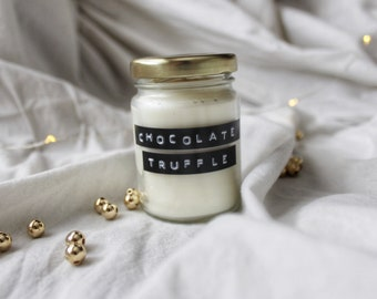 Scented bookish soycandle Chocolate Truffle
