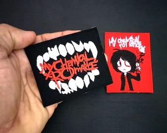 2 pcs My Chemical Romance Embroidered Sew Iron On Patch rock Band Logo Alternative